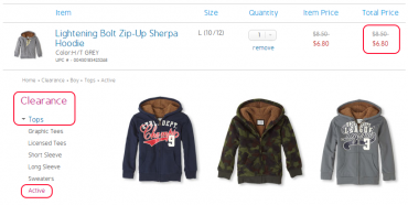 Childrens Place Sherpa Hoodies