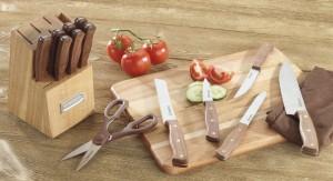 Cuisinart Advantage 14-Piece Triple Rivet Walnut Block Set