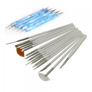 Nail art brushes and dotting tools