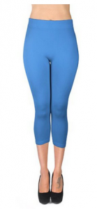 solid color capri leggings