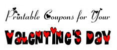 Printable coupons for V Day