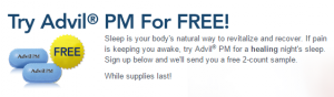 free advil pm