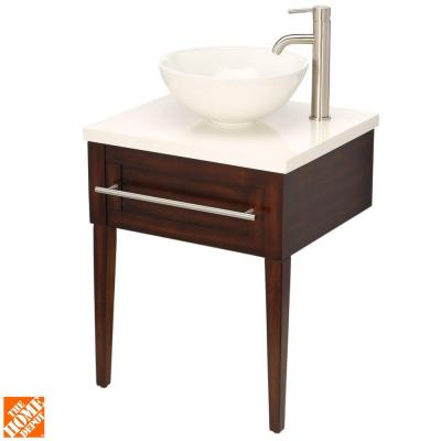 Aitken 24 in. Transitional Vanity in Oak with Engineered Stone Top—$199.00