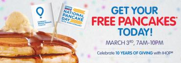 IHOP Free Pancakes