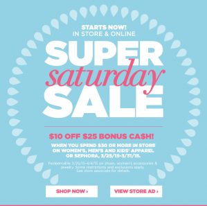 JCPenney Super Saturday