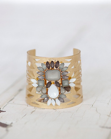 Kimmie Jeweled Cuff — $4.97