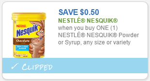 Nesquik coupon