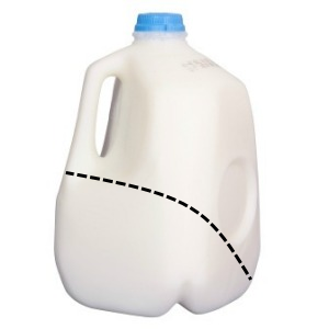 Reuse milk jugs Scoop