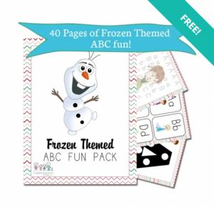 frozen pre school pack
