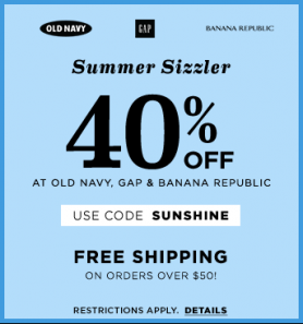 Old Navy 40 off