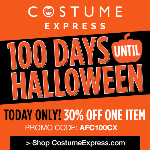 Halloween is in 100 Days! Get 30% off from Costume Express ...