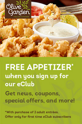 Get A Free Appetizer From Olive Garden Pinching Your Penniespinching Your Pennies