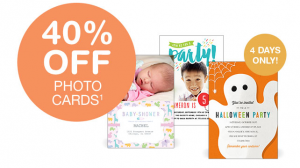 40 off photo cards