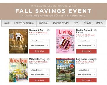 discount mags fall savings