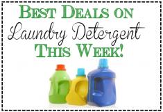 Best deals on laundry detergent