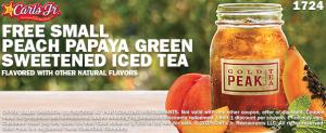 free peach tea