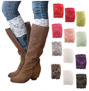 lace stretch boot cuffs