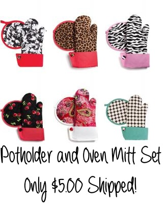 potholder and oven mit set