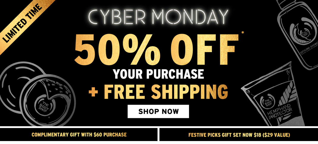 50 Off Free Shipping At The Body Shop Festive Gift Sets Only 18 Common Sense With Money