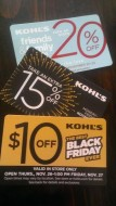 Kohls coupons for black friday mailer
