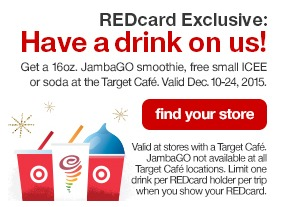 Just show your Target REDcard!