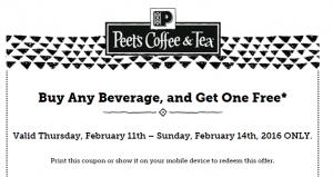 Peets coffee bogo
