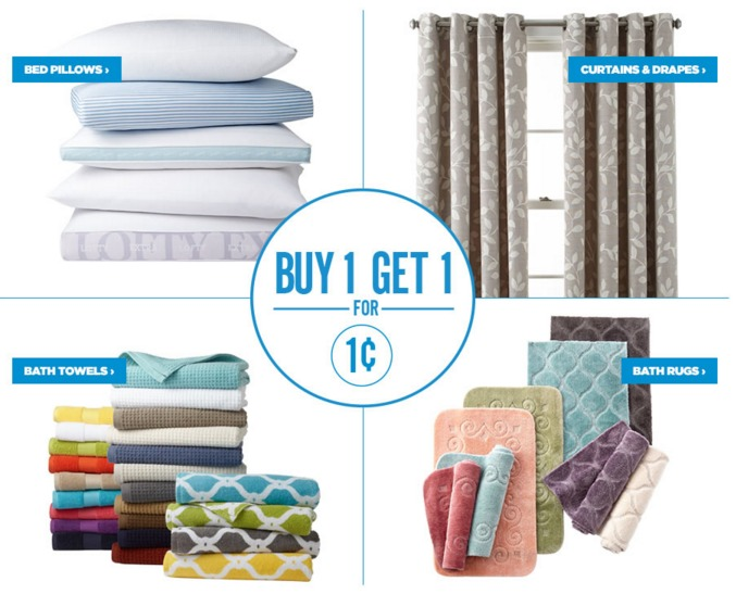 BOGO for 1¢ JCPenney Home Sale | Towels, Bath Rugs, Pillows, and ...