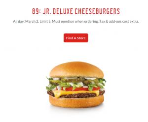 sonic burger deal