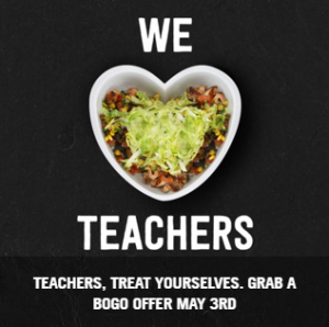 chipotle teachers bogo