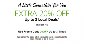 groupon 20 off april