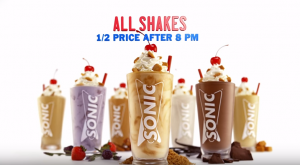 half priced sonic shakes
