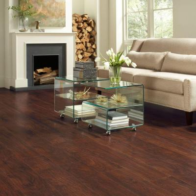 Hot Trafficmaster Dark Brown Hickory Laminate Flooring