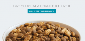 free purina cat food sample