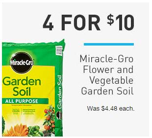 Miracle gro ft flower and vegetable garden soil for Garden soil deals