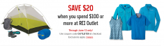 20 OFF 100 REI outlet