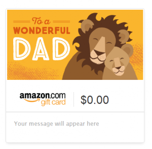 amazon gift card dad