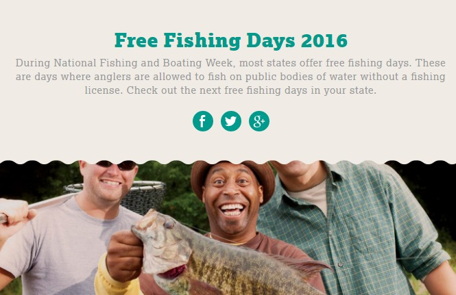 some states 39 free fishing days are this weekend common