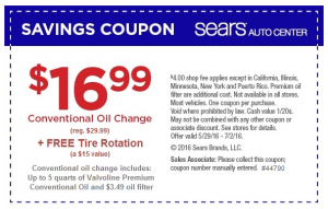 sears oil change
