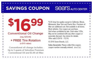 sears oil change