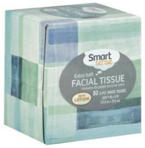 smart sense facial tissue
