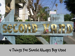 4 things to buy used