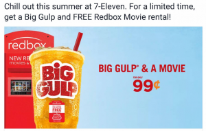 big gulp and a movie
