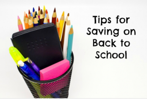 tips for saving on back to school