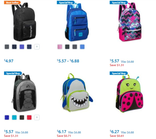 walmart backpacks