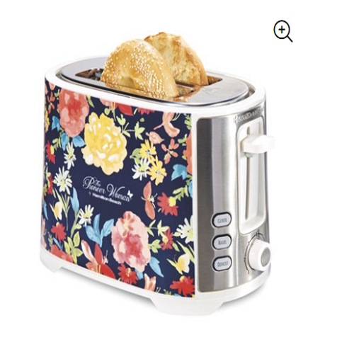 Pioneer Woman Extra Wide Slot 2 Slice Toaster Fiona Floral Kitchen Countertop