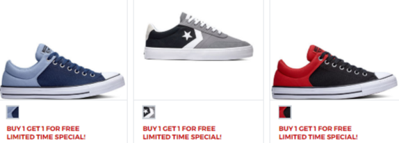 BOGO Converse Sneakers at JCPenney