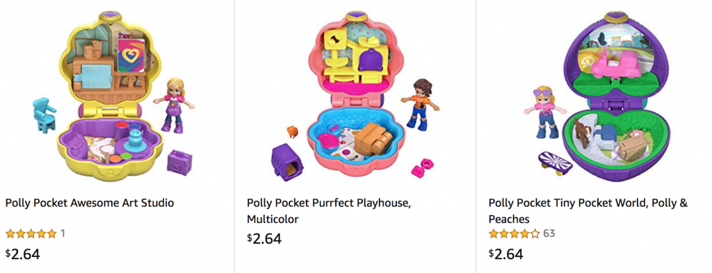 Polly Pocket As Low As $2.64! Perfect Birthday Gifts!
