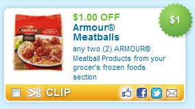 Armour Printable Coupons: Armour Meatballs, Skinny Cow Candy, Halls Cough Drops + More